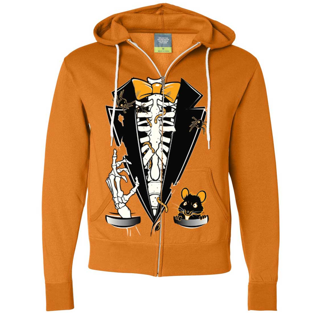 Skeleton Zip Up Hoodie Mask