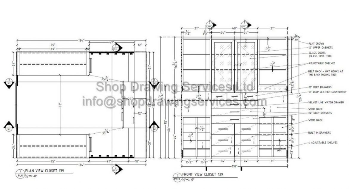 Cabinet Shop Drawing