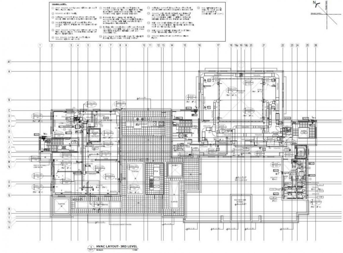 hight resolution of hvac duct drawing image
