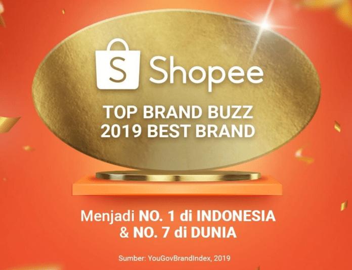 Shopee Jadi Brand Terbaik Nomor 1 di Indonesia Tahun 2019 Versi YouGov