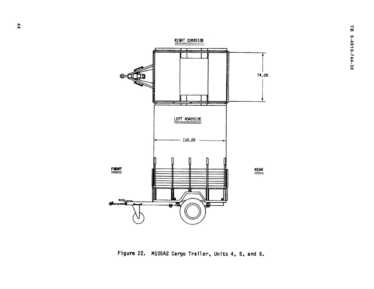 Figure 22. M105A2 Cargo Trailer, Units 4,5, and 6