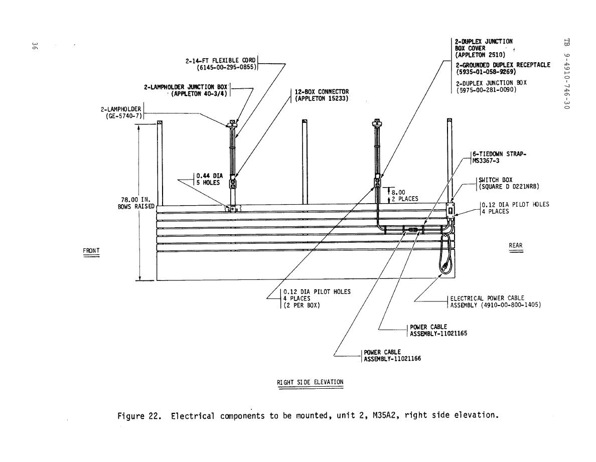 Figure 22. Electrical components to be mounted, unit 2