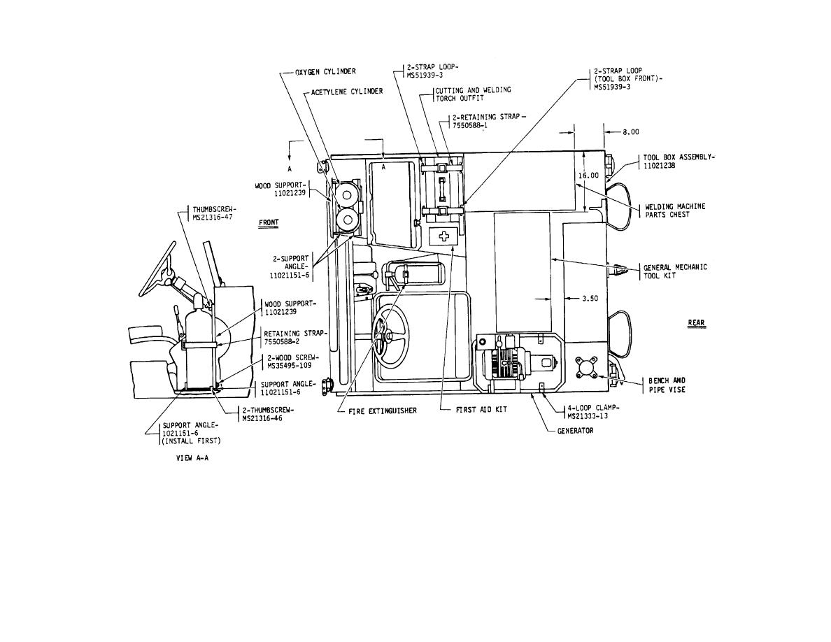 Figure 2 Components To Be Installed M151a2 Top View