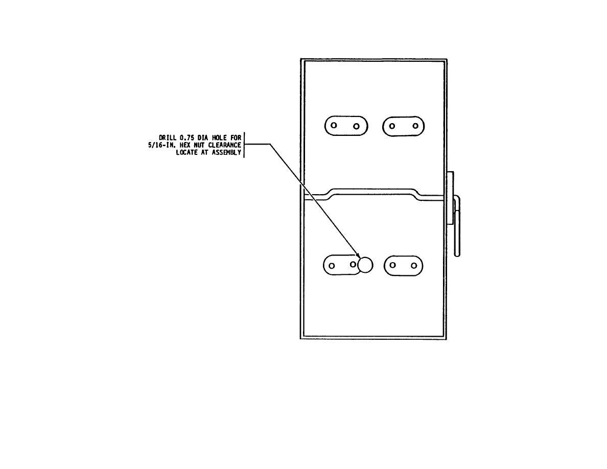 Figure 15. Main Switchbox Modification, Back Wall of Main