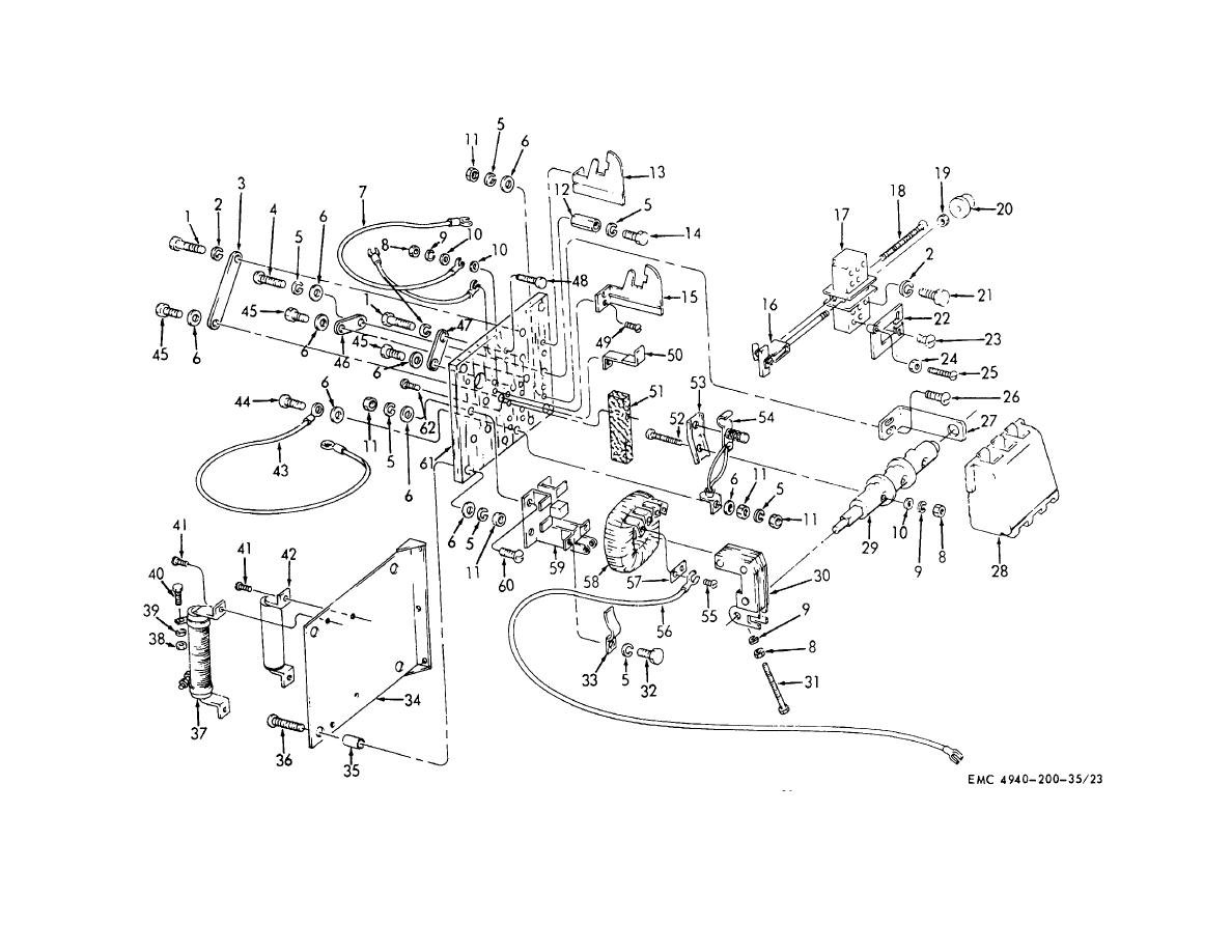 Figure 27. Circuit breaker, disassembly and reassembly.