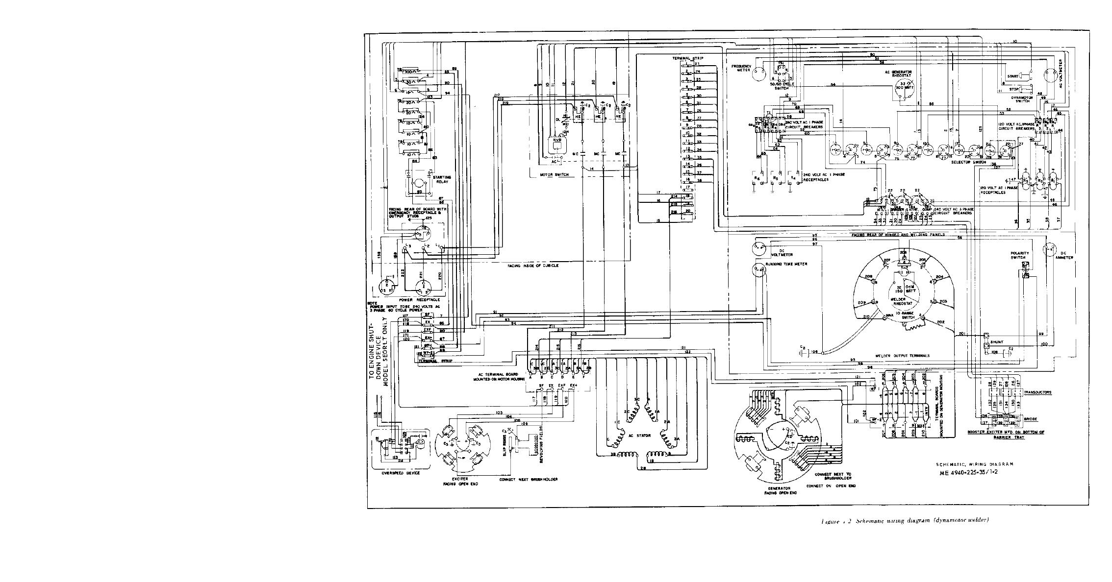 Figure 1-2. Schematic wiring diagram (dynamotor welder)
