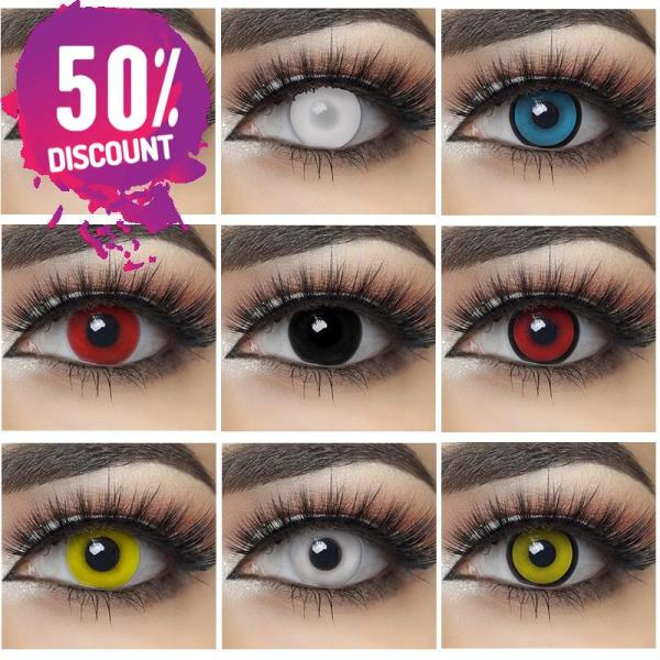 Halloween Cosplay Colored Eye Contact Lenses for Anime Eyes Eye Contact Lenses FREE SHIPPING 3