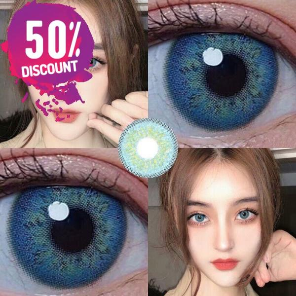 Russian Blue Taylor Blue Eye Contact Lenses For Blue Green Colored Eyes Eye Contact Lenses FREE SHIPPING 8
