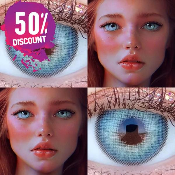 Russian Blue Taylor Blue Eye Contact Lenses For Blue Green Colored Eyes Eye Contact Lenses FREE SHIPPING 6