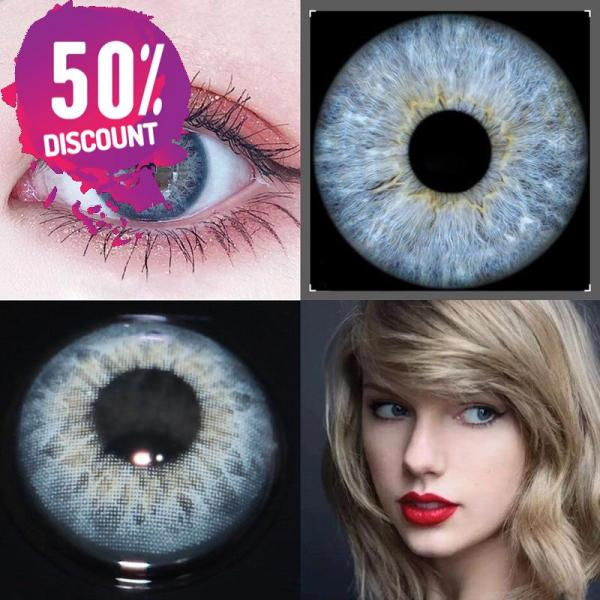 Russian Blue Taylor Blue Eye Contact Lenses For Blue Green Colored Eyes Eye Contact Lenses FREE SHIPPING 5