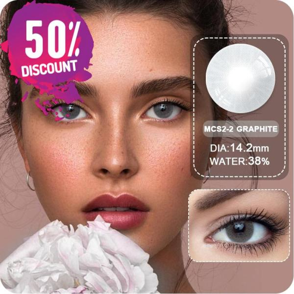 Sweet Cosmetic Blue Grey Shade Eye Contact Lenses 1 Year Use Eye Contact Lenses FREE SHIPPING 4