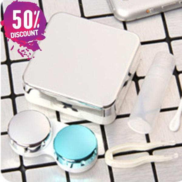 Colored Contact Lenses Case With Mirror Lovely Contact Lenses Travel Kit Box Accessories FREE SHIPPING 7