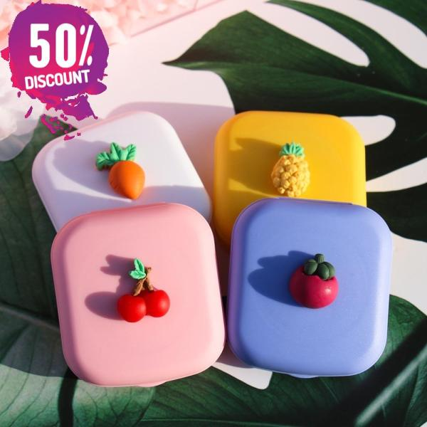 Fruit Eye Contact Lenses Case With Mirror Colored Contact Lenses Travel Kit Box Accessories FREE SHIPPING 4