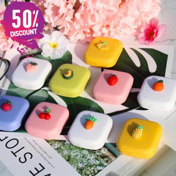 Fruit Eye Contact Lenses Case With Mirror Colored Contact Lenses Travel Kit Box Accessories FREE SHIPPING 6