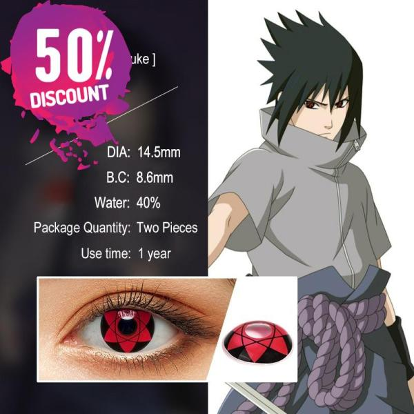 NARUTO Sharingan Contact Lenses Cosplay Colored Contacts for Anime Eyes Accessories FREE SHIPPING 4