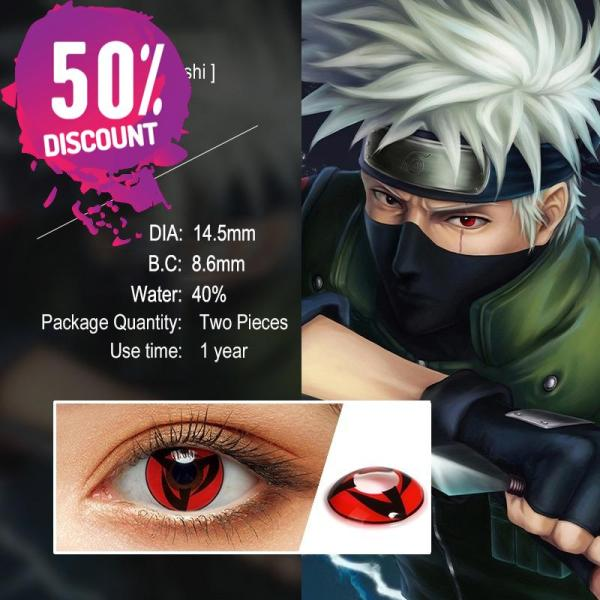 NARUTO Sharingan Contact Lenses Cosplay Colored Contacts for Anime Eyes Accessories FREE SHIPPING 5