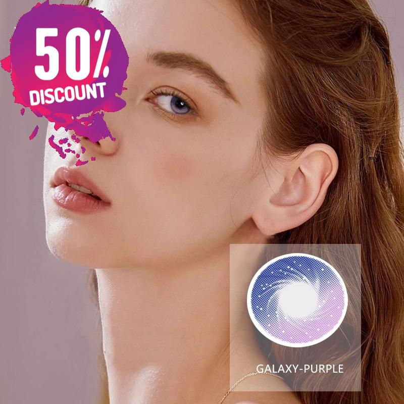Galaxy Starry Sky Purple Pink Blue Eye Contact Lenses 1 Year Use