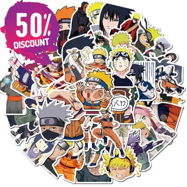 NARUTO Waterproof Stickers 10/30/50pcs/Pack Accessories FREE SHIPPING 4