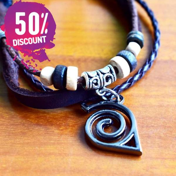 Naruto Logo Bracelets and rings Anime cosplay Prop Accessories FREE SHIPPING 8