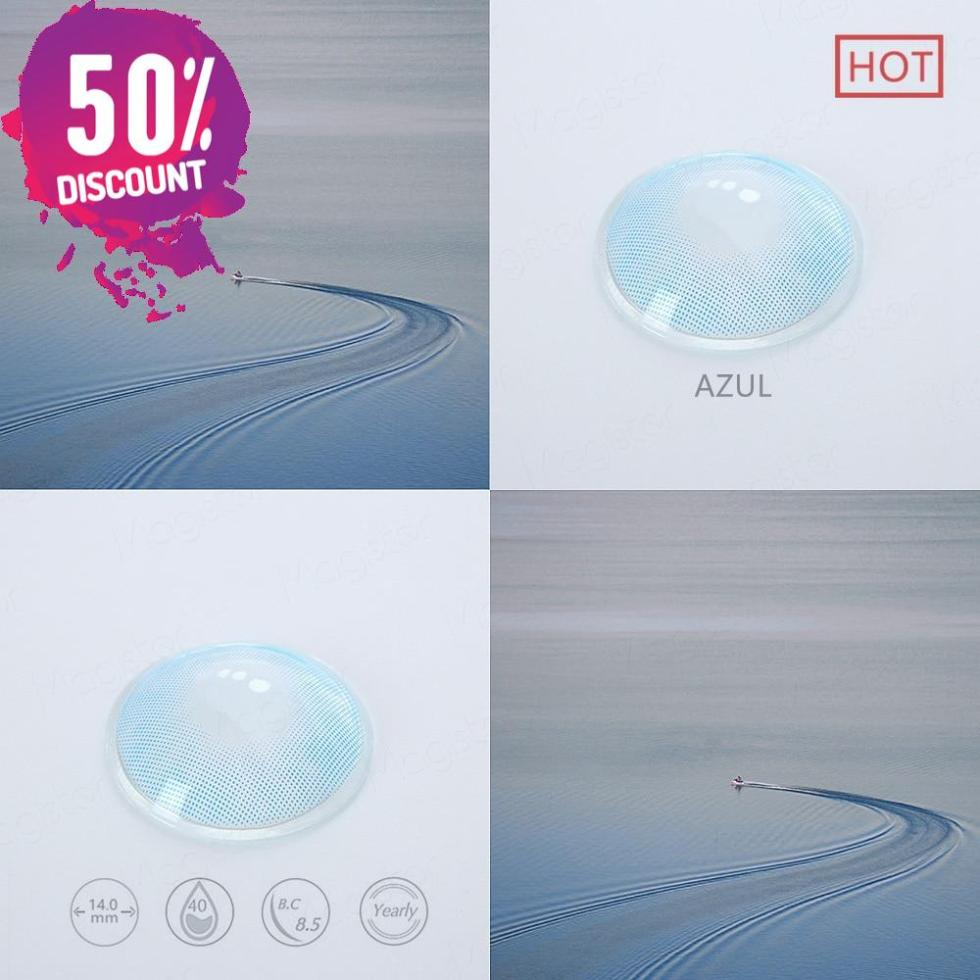 Queen Hidrocolor Colored Eye Contact Lenses-1 Year Use-Premium Quality