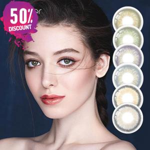 3 Tones Gleam Colored Eye Contact Lenses For a Soft Creamy Look Eye Contact Lenses FREE SHIPPING