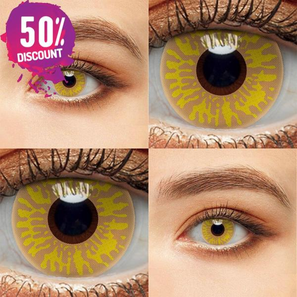 Crazy Colored Cosplay Eye Contact Lenses for Halloween Anime Eyes-1 Year Use Eye Contact Lenses FREE SHIPPING 5