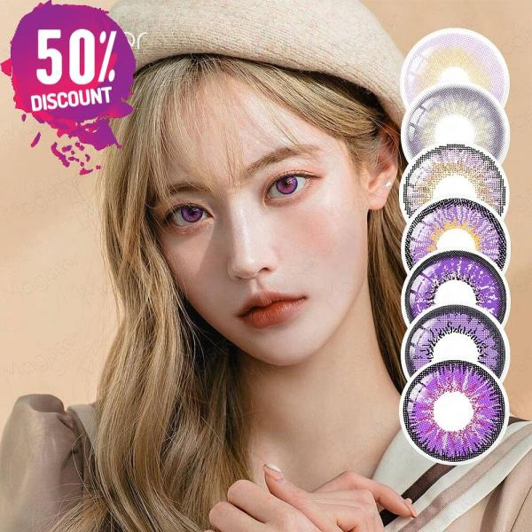 Violet Purple Shades Colored Eye Contact Lenses -1 Year Use- Premium Quality Eye Contact Lenses FREE SHIPPING 3