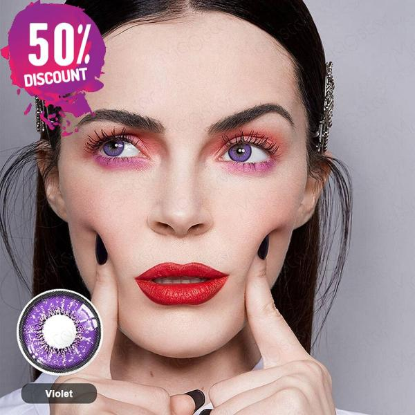 Violet Purple Shades Colored Eye Contact Lenses -1 Year Use- Premium Quality Eye Contact Lenses FREE SHIPPING 5