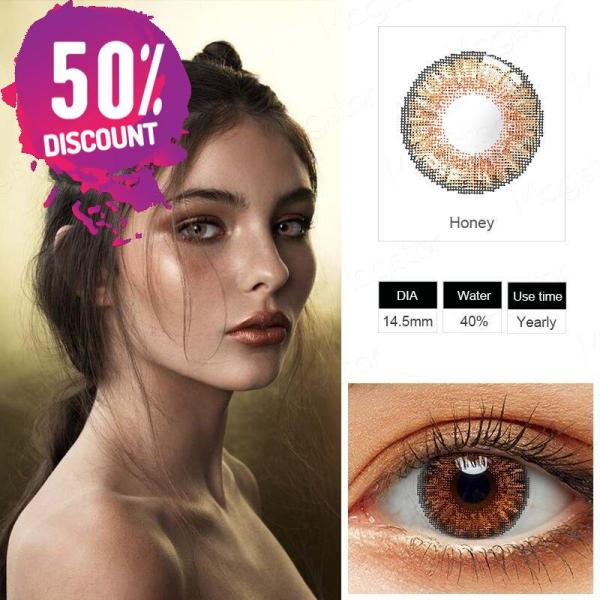 3 Tones Star Blue Green Brown Grey Colored Eye Contact Lenses for A Natural Sexy Look Eye Contact Lenses FREE SHIPPING 8