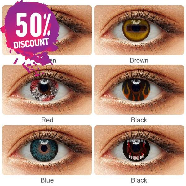 Colored Cosplay Eye Contact Lenses Halloween Crazy Lenses For Anime Look- Premium Quality Eye Contact Lenses FREE SHIPPING 4