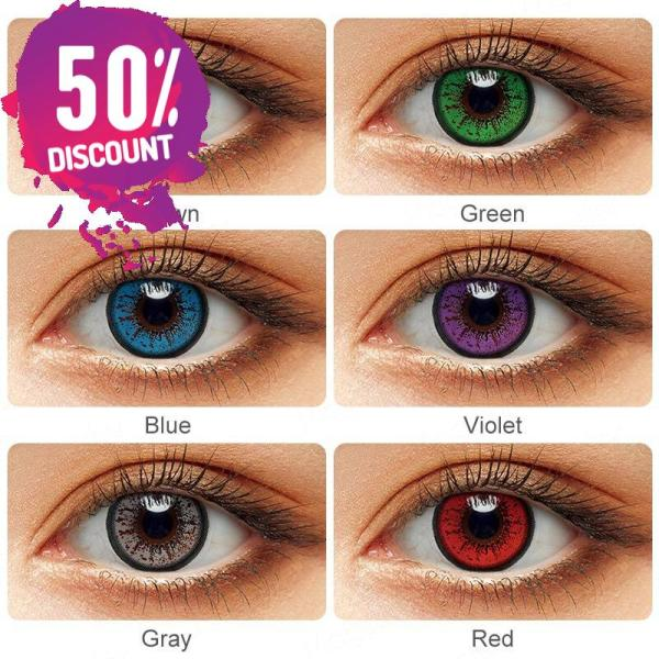 Flame Colored Eye Contact Lenses for Colorful Candy Bright Color Eyes-1 Year Use-Premium Quality Eye Contact Lenses FREE SHIPPING 5