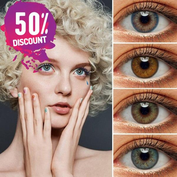 Delight Colored Eye Contact Lenses for a Sexy Beautiful Look Green Gray Blue Shades Eye Contact Lenses FREE SHIPPING 3