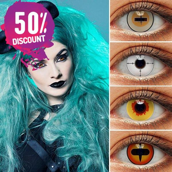 Vampire Fire Yellow Eye Contact Lenses For Cosplay Halloween Anime Eyes-1Year Use Eye Contact Lenses FREE SHIPPING 3