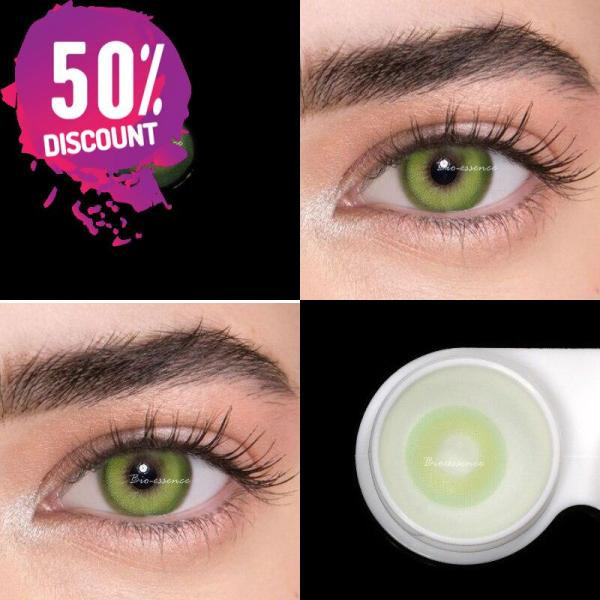 Prescription Colored Contacts For Myopia Bright Blue Green Color Contact Lenses-1 Year Use Eye Contact Lenses FREE SHIPPING 4