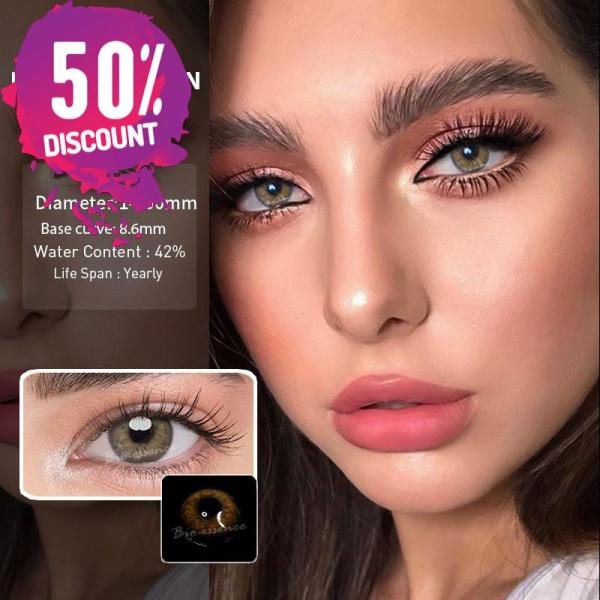 Prescription Colored Contacts For Myopia Russian Blue Brown Gray Eye Contact Lenses-1 Year Use Eye Contact Lenses FREE SHIPPING 6