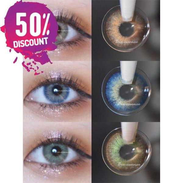 Prescription Colored Contacts for Myopia Green Blue Brown Colored Eye Contact Lenses-1 Year Use Eye Contact Lenses FREE SHIPPING 4