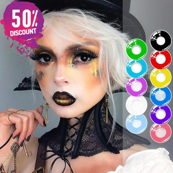 Halloween Circle Colored Contact Lenses Anime Cosplay Eye Lenses Eye Contact Lenses FREE SHIPPING 3