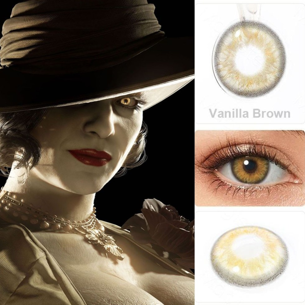 Lady Dimitrescu Contact Lenses For Colored Cosplay Anime Eyes-1 Year Use- Premium quality