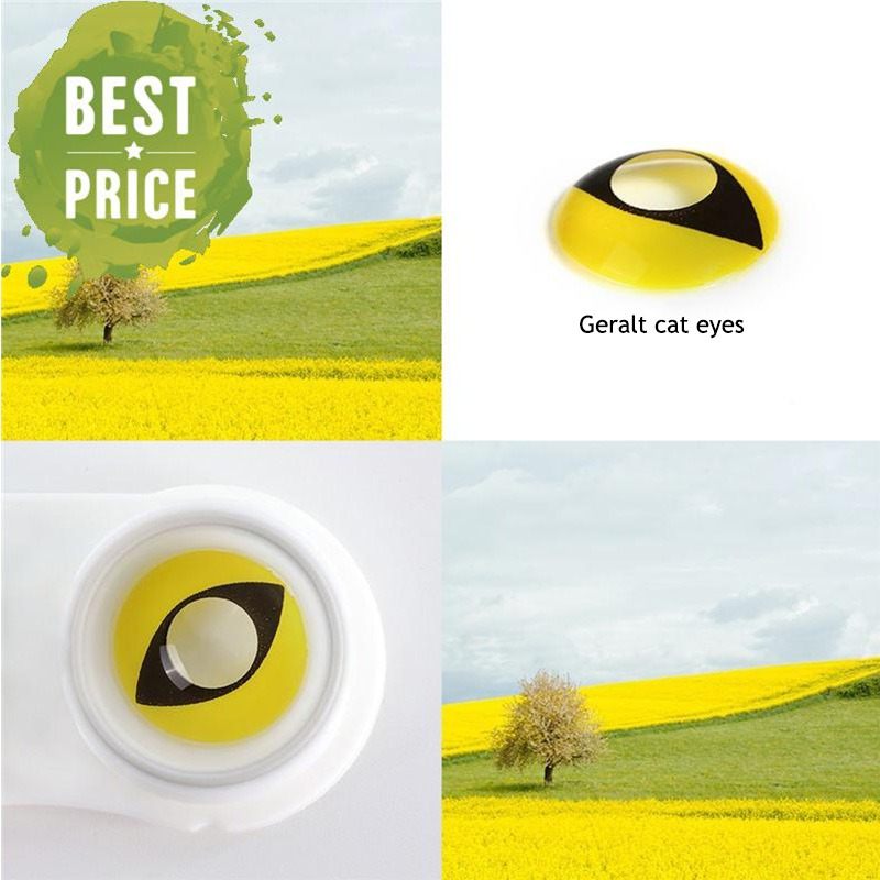 Witcher 3 Yellow Cat eyes Cosplay Eye Contact Lenses