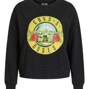 VILA Printed Sweatshirt Dames Zwart