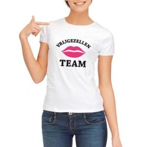Vrijgezellenfeest Team t-shirt wit dames - vrijgezellen shirt
