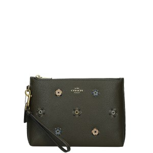 Coach Charlie Rivets clutch moss