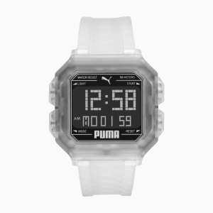 REMIX Unisex horloge, Zwart/Doorzichtig/Aucun | PUMA