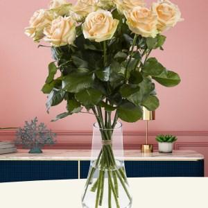 10 zalmkleurige rozen - Avalanche Peach | Rozen online bestellen & versturen | Surprose.nl