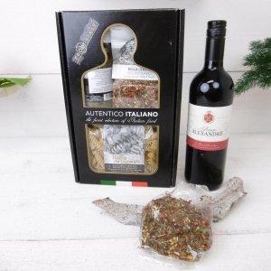 Italiaans kerstbox-spaghetti met rode wijn (6 stuks)