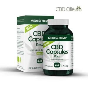 CBD Capsules 30 stuks 12,5 mg, 375 mg Raw