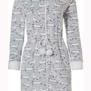 Damesbadjas teckels - fleece