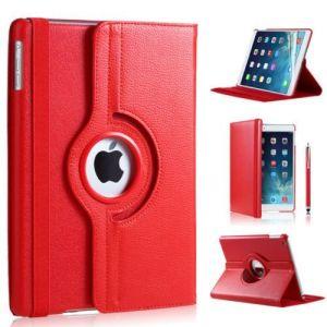 iPad Pro 9.7 hoes 360 graden rood leer