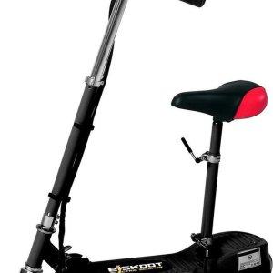 E-skoot zwart Electrische scooter met afneembaar en verstelbaar zitje - 24V 120W - accu-voertuig
