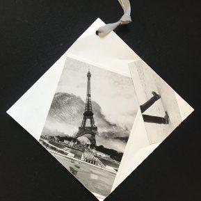 A souvenir from Paris becomes a creative gift tag.